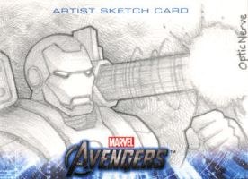 Avengers Assemble Sketchcard - War Machine by theopticnerve