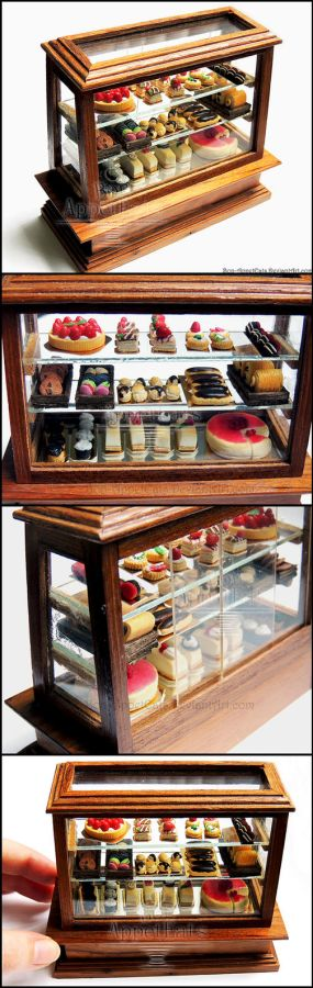 1:12 Pastry Display Case Detail by *Bon-AppetEats