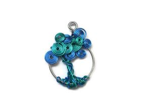Green and Blue Whimsical Tree of Life by roboerin3000