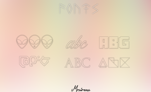 Fonts by MrSirens