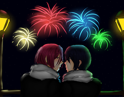 [Rinharu] Happy New Year! by THE-L0LLIP0P