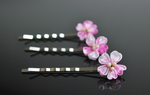 Cherry Blossoms bobby pin kanzashi by hanatsukuri
