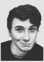 Day 16 - Draw Dan and/or Phil + fave hair look by DraconaMalfoy