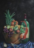 Fruit and wine by hesthage