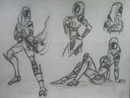 sketches Tali (49) by spaceMAXmarine