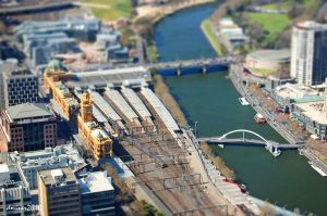 Melbourne City View Tilt Shift by DanielleMiner