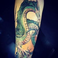 My Haku sculpture as tatoo by hontor