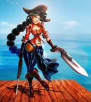 pinup - pirate by koyote974