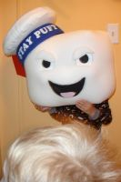 Stay Puft Costume Head by hiredhand