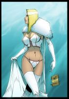 Emma Frost - colors by Rexbegonia