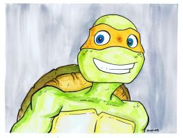 TMNT Watercolor - Michelangelo by JesseAcosta