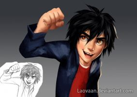 Hiro Hamada - painting practice by Laovaan