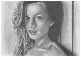 Anne Hathaway by AfterSchoolArts