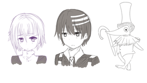 crona, kid, and excalibur?! by R-Ruri