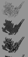 step by step: Space Knight by moxomo