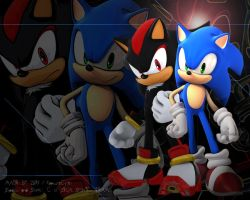 Sonic and Shadow  DT Wallpaper by RaptureCyner