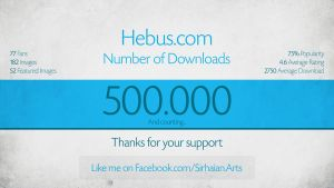 500.000 Downloads on Hebus.com by Sirhaian