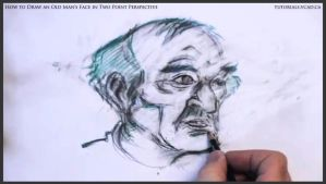 Draw An Old Man's Face In Two Point Perspective 31 by drawingcourse