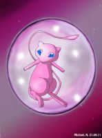 Mew in a bubble by Caadot