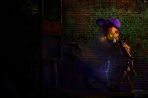 glowing wallpaper glue by mr-1up