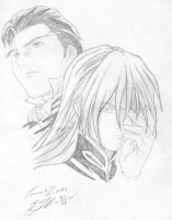 Treize and zechs by vegalume