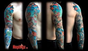 Blue Sleeve by NephtysTattoo