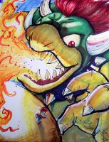 Mario vs Bowser SMG2 by BluFioneX