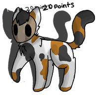 Masked Calico Cat Adoptable by RCAdopts