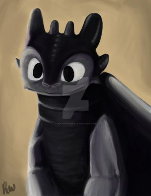 Toothless. by bekahwithers