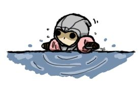 Chibi Altair trying to float by zetsumeininja