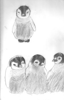Baby Penguin sketches by Art-By-Sammy
