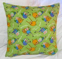 Adventure Time Pillow by quiltoni