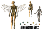 Alien Woman Set2 png by mysticmorning