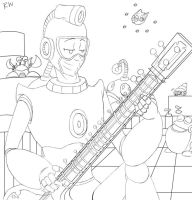 Bubble man lineart by Gingler