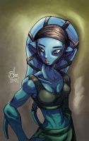 blue girl by toonfed