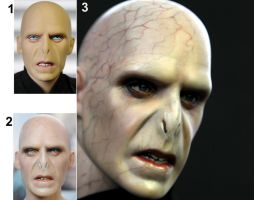 Ralph Fiennes as Voldemort custom doll repaint by noeling