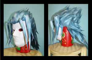 Young Xehanort  Wig - Papercraft by WingBlade48