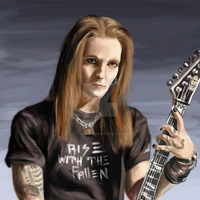 Alexi 'Wildchild' Laiho by TigaLioness