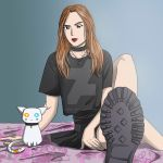 The girl and the cat by LadyKallisto