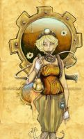 Steampunk Chic Coloured by SashaFitzgerald