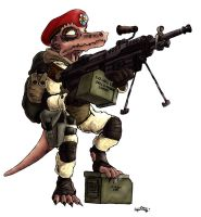 Kobold Soldier by CommissarKinyaf