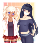 Kyo and Yami: Hanging out by Willowbranwen