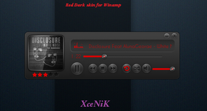 Red Dark Player for Winamp by XceNiK