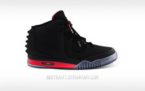Nike Air Yeezy 2 'Infrared' by BBoyKai91