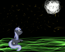 Lunar Pony Enjoying the Night Sky by TwinQuasars
