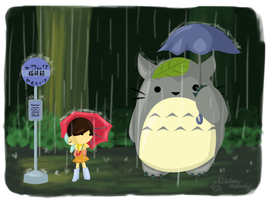 My Neighbor Totoro by x-Hidden