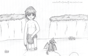 Giant Hiccup and Toothless by BritishNicky