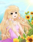 Chii and sunflowers by MagicMoonBird