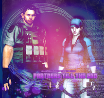 Jill Valentine and Chris Redfield Partners by BriellaLove
