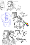 Bara PChat Sketchdump by Lumoroske